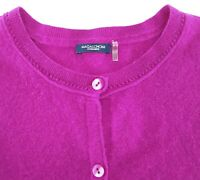 Magaschoni Sweater Large XL 100% Cashmere Cardigan Button Pink Purple Womens