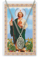St. Jude (Patron Saint of Desperate Cases) Necklace, Medal and prayer card
