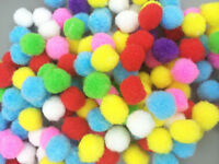 DIY 200PCS Fluffy Craft PomPoms Balls Mixed Colours Pom Poms About 15mm  Diamet