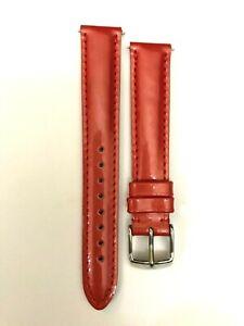 Michele Genuine Bright Orange Patent Leather Watch Strap   MS16AA050820   16mm