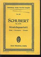 Schubert : Streichquartett D-dur Op. posth. ~ Studienpartitur