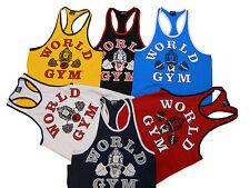 World Gym Ringer Tank Top- New