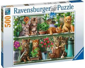 Ravensburger 14824 Cats on the Shelf 500 Piece Jigsaw Puzzle *Brand New*