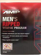 GNC Pro Performance AMP Men Ripped Vitapak Program Supplement, 30 Paks