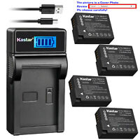 Kastar Battery LCD Charger for Leica BP-DC12 & Leica V-Lux 4 Leica Q (Typ 116)