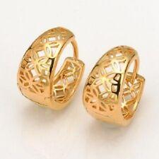 Pendientes ovalados filigrana con oro amarillo 18 kgf gold filled