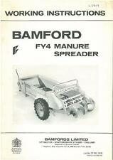Bamfords Manure Spreader - Model FY4 Operators Manual