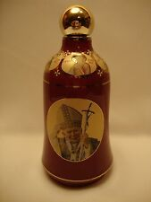 Pope Jean Paul II Virgin Mary Rare Roman Catholic & Orthodox Holy Water Bottle