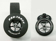"Pro Track ""Pro Star Black"" 1 5/16"" x .500"" Matching Rr/Ft 1/24 Slot Car Tires"