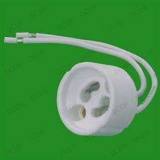 8x Gu10 Ceramic Sockets, Halogen, Led Bulb, Lamp Holder Down Light Fitting Base