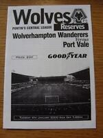 04/01/2000 Wolverhampton Wanderers Reserves v Port Vale Reserves  (4 Pages)