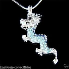 Blue Dragon made with Swarovski Crystal Chinese New Year Amulet Necklace Jewelry