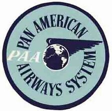 PAA   (Pan American Airline)   Vintage-Looking   Sticker/Decal/Luggage Label