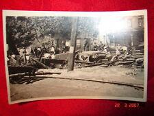 RPPC 1922 Flood Carbondale, Pa Scranton, Pa Moosic, Pa  Bridge & Tracks