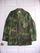 1970 Vietnam War US Air Force Erdl Pattern Camo Rip Stop Jungle Bush Jacket