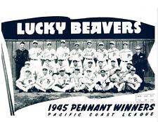 1945 PENNANT WINNERS PORTLAND BEAVERS PCL TEAM 8.5X11 PHOTO BASEBALL OREGON