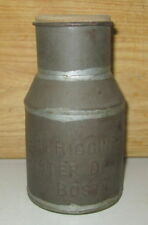 RARE ANTIQUE R.R. HIGGINS & CO. OYSTER DEALERS-BOSTON PINT TIN CAN W/HANDLE