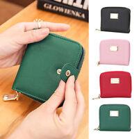 Women Leather Small Wallet Lady Card Holder Zip Coin Purse Bag Girls Handbag UK