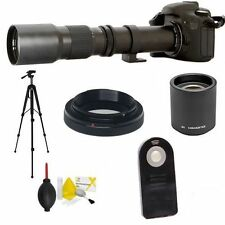 SPORTS ACTION TELEPHOTO LENS 500-1000MM  REMOTE FOR NIKON D3000 D3100 D3200 D90