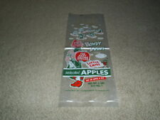 Howdy Doody Washington State Delicious Apples Plastic Bag Vintage