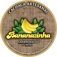 04 Bottles of Cachaca Artesanal Bananazinha, from Brazil also know as Bananinha!