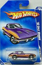 Hot Wheels 2008 Todos Stars ' 63 Dividido Ventana Corvette (Naranja / Lila) Card