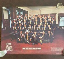 "Miller Lite Beer ""The Lite Beer All-Stars"" Poster 1980 24"" x 18"""
