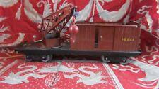 ancien wagon hornby meccano grue en tole