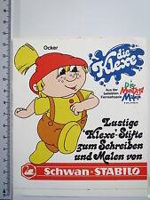 Aufkleber Sticker Schwan Stabilo - Die Montagsmaler 1969-1972 - Klexe V2 (M1264)