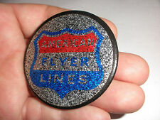 """Rare vintage American Flyer Lines advertising trains pin button pinback 2.25"""""""