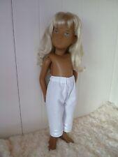 BJB, Vintage Sasha dolls clothes, Long white bloomers knickers pants satin trim