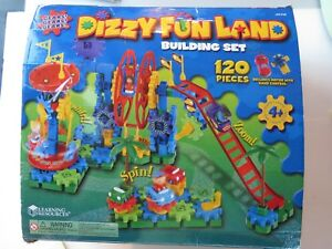 Vintage Learning Resources Dizzy Fun Land Building Set Gears 120pc Complete A598