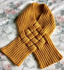 Ladies Snood Scarf Double Knit Yarn  Mustard