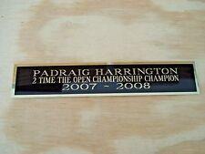 New listing Padraig Harrington 2X The Open Nameplate For A Golf Flag Case / Scorecard 1.5X6