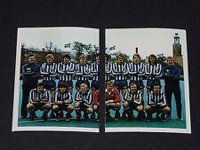 N°163-164 IFK GÖTEBORG SVERIGE SUEDE C2 FOOTBALL BENJAMIN EUROPE 1980 PANINI