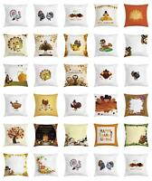 Thanksgiving Throw Pillow Cases Cushion Covers Ambesonne Accent Decor 8 Sizes