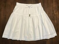 GAP **SIZE XS** WHITE COTTON DRAWSTRING WAIST SKIRT