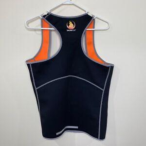 SaunaTek Sauna Neoprene Tank Top Shirt Workout Black Women's Size XXL 2XL