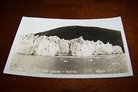 Rare Antique RPPC Real Photo Postcard AZO 1926-1940s Taku Glacier Alaska Juneau