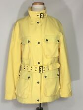 Burberry London Coats Jackets 🧥 Yellow Woman Made USA Vintage Authentic Plaid