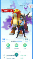 Pokemon-Account Go Level 40 With 90 Legendary, 2200 Coin, Shadow Entei, Mewtwo