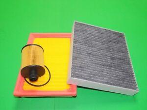 Ölfilter Luftfilter Aktivkohle Pollenfilter Chevrolet Aveo 2 1.3 Diesel