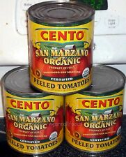 3X Cento Certified (DOP) SAN MARZANO Tomatoes From Italy,1Lb 12oz Cans,The Best