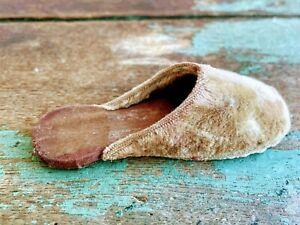 Antique Single Velvet doll Slipper shoe