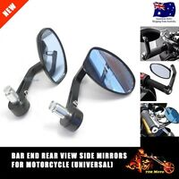 BAR END REAR VIEW SIDE MIRRORS MOTORCYCLE ALUMI ALLOY DUCATI YAMAHA SUZUKI HONDA