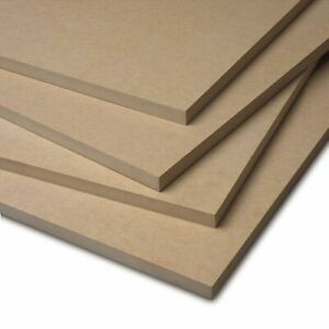 Rectangle MDF Plain Board Sheet 6 TO 18mm thick 100 TO 600mm Wide or Cut to Size