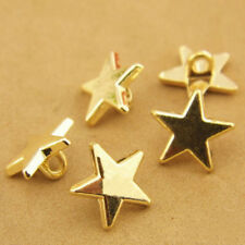 Gold Novelty Star Shank Button Metal for Sewing or Embellishments 30 Pcs