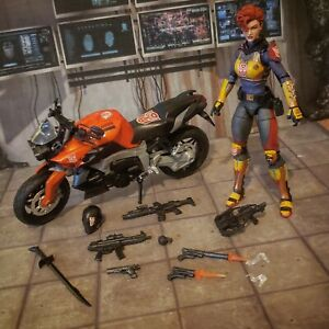 GI Joe Classified Custom autobot Scarlett  Snake eyes marvel legends lot w/bike