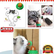 Cats Natural Catnip Licking Sugar Snacks Ball W/ Sucker Treats Energy Sugar Gift