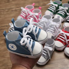 Baby Boys Girls Soft Sole Crib Shoes Infant Toddler Sneakers PreWalker Trainers